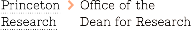 Princeton Research, Office of the Dean for Research